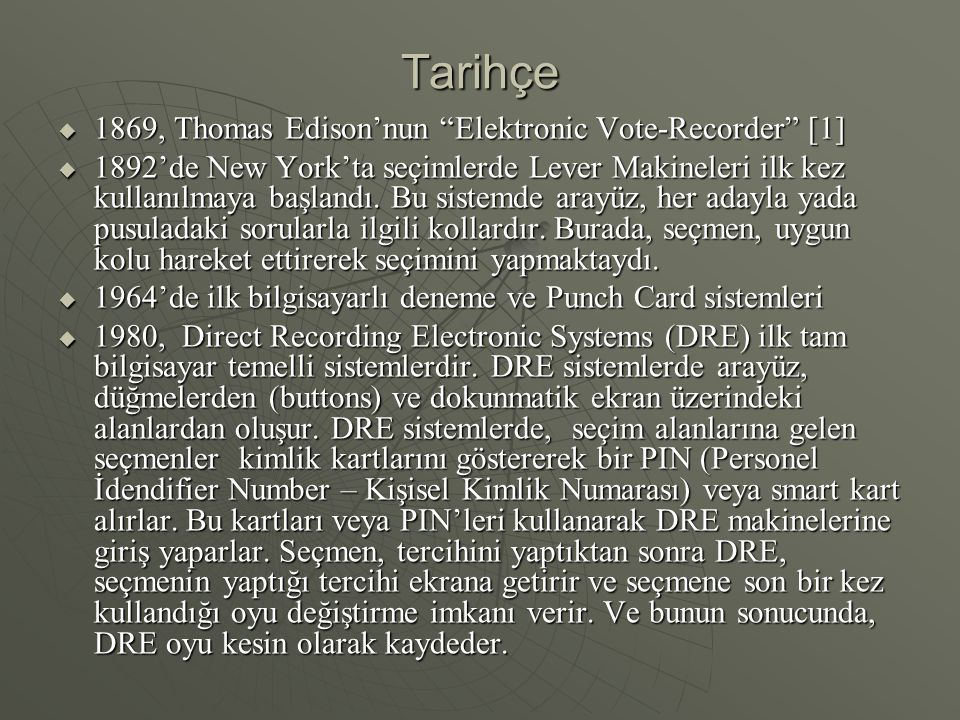 Tarihçe 1869, Thomas Edison'nun Elektronic Vote-Recorder [1]